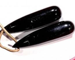 BLACK ONYX DRILLED BEAD 32  CTS  LG-434