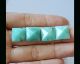 Amazonite Pyramids Cabochons - 10x7 MM