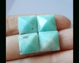 Natural Amazonite  Pyramids Cabochon - 10x7 MM