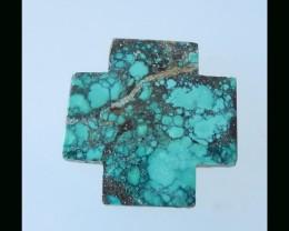 Teardrop Turquoise Cross Cabochon -34x20x3 MM