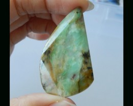 Faceted Fashion Chrysocolla Bead - 51x27x5 MM