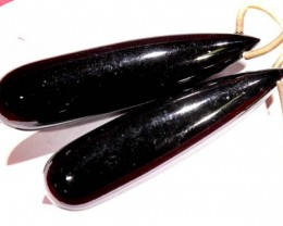 BLACK ONYX DRILLED BEAD 59.30  CTS  LG-441