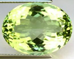 20.19 Cts Natural Green Amethyst (Prasiolite) Brazil Gemstone - GEMEX