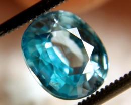 3.65 Carat VVS Blue Zircon Beauty