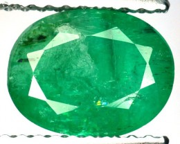 1.62 Cts Natural Green Colombian Emerald Oval CUt Gemstone- GEMEX