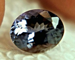 CERTIFIED - 2.25 Carat IF/VVS1 African Tanzanite - Gorgeous