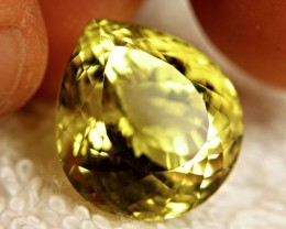 CERTIFIED - 25.85 Carat IF/VVS1 Lemon Quartz
