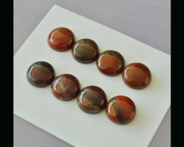 8PCS Red Agate Cabochon Set - 12x12x5 MM