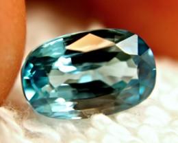 4.09 Carat VVS Blue Cambodian Zircon - Beautiful