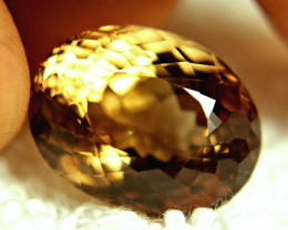 20.82 Carat VVS Golden Brown Brazil Topaz