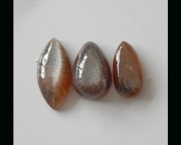 Natural Sunstone Cabochon Gemstone - 25X12X5  MM