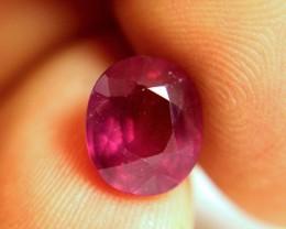 5.68 Carat Fiery Purple / Red SI Ruby