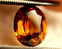 3.53 Carat VVS1 Orange Southeast Asian Zircon - Gorgeous