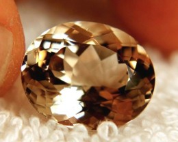18.24 Carat VVS Golden Brazil Topaz - Superb