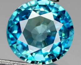 2.57 Cts Natural Blue Zircon Cambodia 7.5mm Round - GEMEX - NR Auction