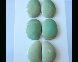 3Pairs Natural Turquoise Cabochon Pair  -  22x30x6 MM