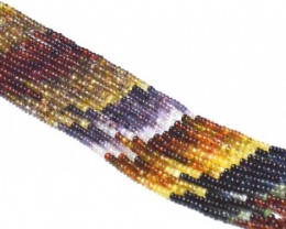"3 to 3.5mm 13"" Tunduru Garnet AAA smooth beads GRT003"