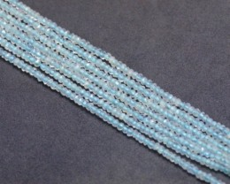2mm Aquamarine faceted beads 13in line aq006 SALE