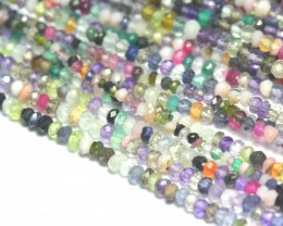 "3mm 14"" line Mixed Gemstone beads Supreme quality MIXB15"