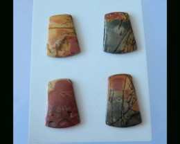 Multi Color Picasso Jasper Cabochons -33x22x4 MM