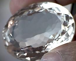 Glittering Huge 32.2ct Icey White  Spodumene VVS( A87)