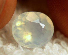 2.97 Carat White Mexican Fire Opal - Superb