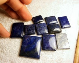361 Tcw. - 10 Pieces Lapis Cabochons - Superb