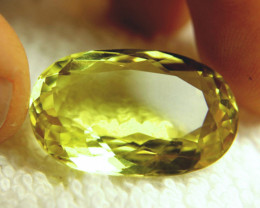 35.68 Carat IF/VVS1 Vibrant Yellow Quartz - Superb