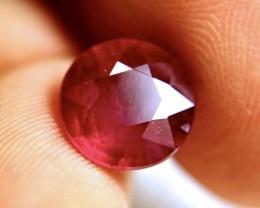 5.40 Carat Fiery Round Cut Ruby - Beautiful Gem