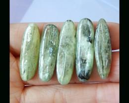 Sell 5pcs High Quality Green Kyanite Cabochons,67Cts Green Kyanite Gemstone