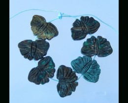 Butterfly Carving Turquoise Necklace Beads Strands -  16x24x4 MM