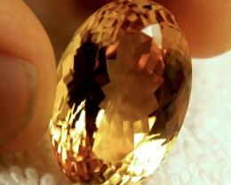 31.63 Carat IF/VVS1 Golden Citrine - Gorgeous