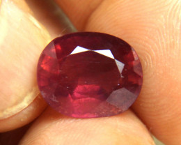 9.52 Carat SI Purplish Red Ruby - Beautiful