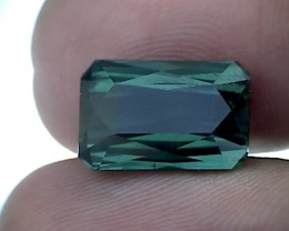 8.2ct Platinum Green Scissor cut Tourmaline Nigeria IF BB27
