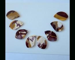 Brilliant  Mookaite Jasper Necklace Bead Set - 39x25x3.5 MM,235.5 Cts