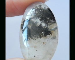 Well Polished Dendritic Agate Cabochon - 31x19x6 MM