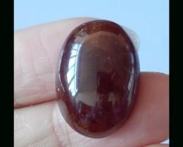 Natural Garnet Gemstone Cabochon - 21.5 X16X8 MM