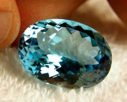 29.57 Carat Vibrant Blue Earth Mined IF/VVS1 Topaz - Lovely