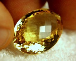 24.13 Carat VVS1 Cushion Cut Golden Citrine - Beautiful