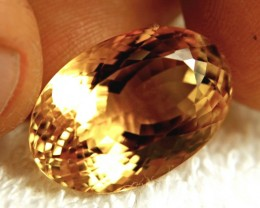 CERTIFIED - 27.17 Carat Vibrant IF/VVS1 Golden Citrine - Superb Stone