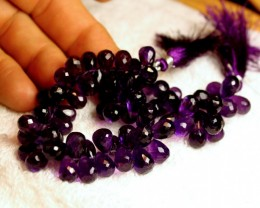 317 Carat Amethyst Briolette Strand 9 inches
