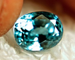2.85 Carat Beautiful Blue VVS1 Southeast Asian Zircon