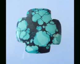 Natural Turquoise Cross Cabochon - 30x30x4.5 MM