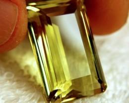 31.30 Carat Olive Yellow VVS1 Brazilian Quartz