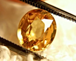 2.82 Carat Golden Yellow VVS Zircon