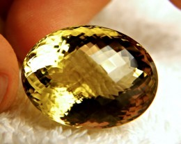 60.98 Carat Cushion Cut VVS1 Brazilian Quartz - Beautiful