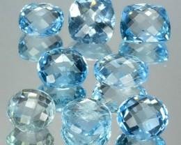 31.28 Cts South American Blue Topaz 8 Pcs Parcel 1$ NR