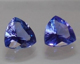 2.69ct 'D' Block Tanzanite Matching Pair