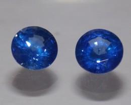 2.14tcw Blue Sapphire Matching Pair