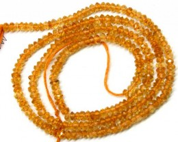 CITRINE  BEADS DRILLED FACETED 22  CTS  NP-533